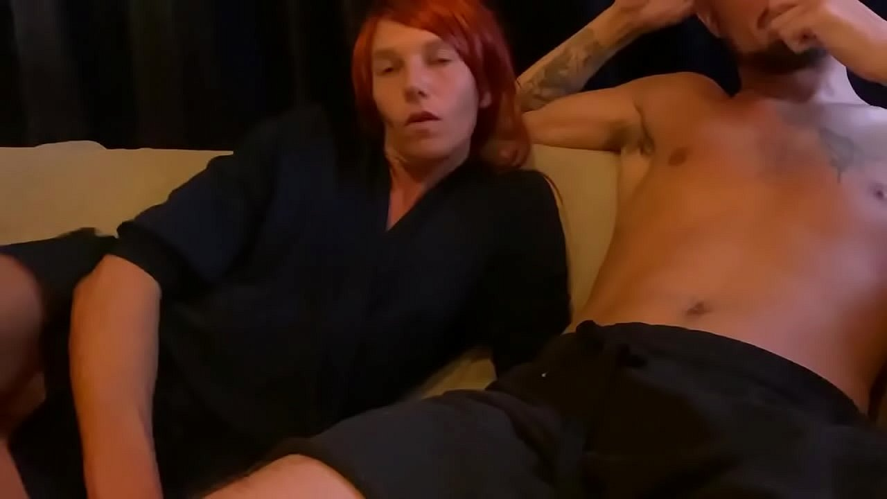 Mommy & Step-Son Share A Couch