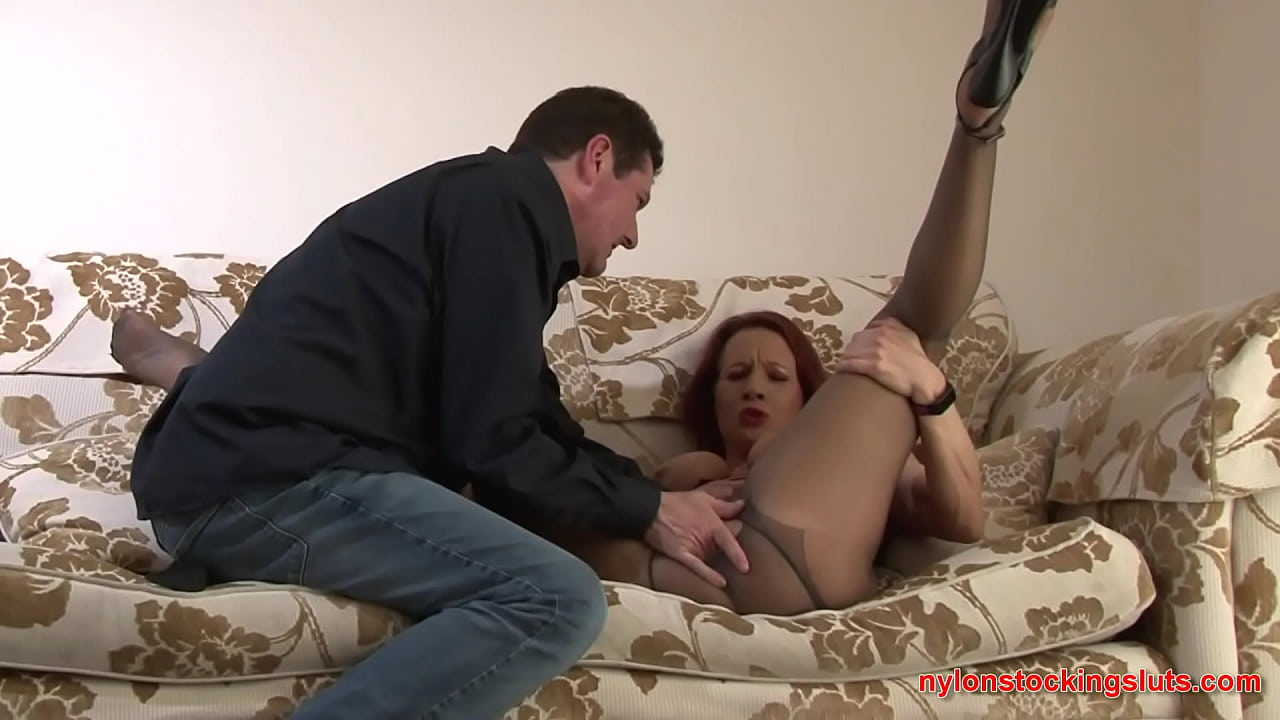 Faye Rampton Pussy Fully Exposed Through The Torn Gusset Of Her Tights - Nylonstockingsluts.com