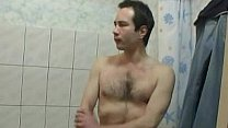 Taking a hot shower tog...
