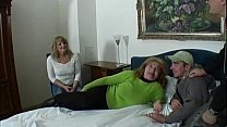 Group sex with mature s...