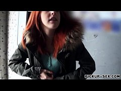 Amateur red haired Eurobabe Amarna Miller naile...