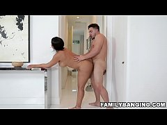 Latina MILF Stepmom Rose Monroe Gets Fucked By Her Stepson While Her Husband Is Locked Up In The Bathroom