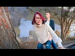 KISSCAT Love Breakfast with Sausage - Public Agent Pickup Russian Student for Outdoor Sex
