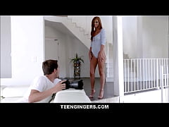 Very Hot Red Head Teen Scarlett Mae Fucked By Nerdy Guy Photographer Before She Leaves For School