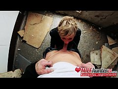 MILF Hunter meets skinny mature bitch Vicky Hundt in an abandoned office building and bangs her hard! I banged this MILF from milfhunter24.com!
