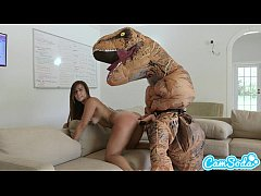 big ass latina teen chased by lesbian loving TR...