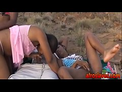 African interracial orgy hot...