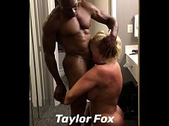 A Blonde Mature Barbie gets passionately pounded by a muscular mature BBC