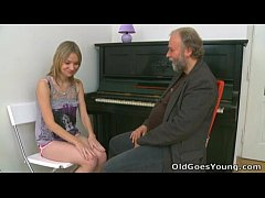 Old Goes Young - Maya's tiny tits get bounced w...