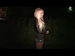Hot blondie going to a public sex with stranger...