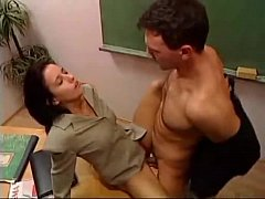 Hot teacher fucked in...