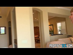 PropertySex - Sexy young homebuyer fucks to sel...