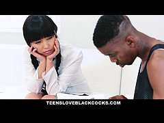 TeensLoveBlackCocks - Japanese Tutor Gets Drill...