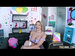 TRUE ANAL New starlet Sophia Deluxe gives up he...