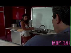 Stunning young Naomi seduces stepdaddy before a...