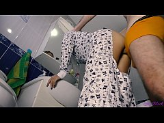 Quickie With Petite Teen In Pajamas Ends With O...