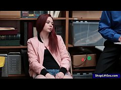 Clip sex Redhead thief drilled by nasty LP officer in the backroom
