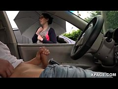 Clip sex Dick flash and girl watches me jack off in my car - Pornspot
