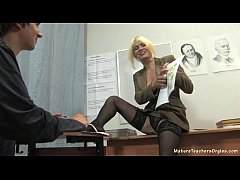 Russian mature teacher 2...