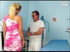 Blonde Bambi having pussy gyno examined by old ...