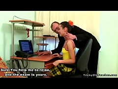 Tricky Old Teacher - Super hot teenage chick su...