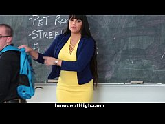 InnocentHigh - Hot MILF Teacher Fucks Student
