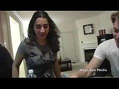 Lebanese Arab girl goes to house party to get f...