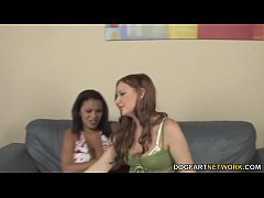 Interracial lesbian sex with...