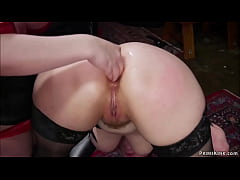 Lesbian slaves anal fisted and fucked