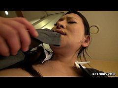 Japanese maid, Rei Kitajima was caught masturbating at work, uncensored