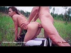Incredible outdoor ATM and anal creampie for fitness teen Mia Bandini.