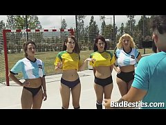 Beautiful Soccer Teens Give Head and Rammed