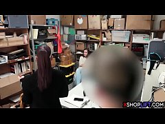thumb teen thief a nd her angry mom got banged for shoplifting
