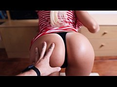 Stepsister Missy helps me with my shorts (unexp...