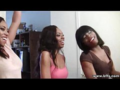 BFFs - Interracial Groupsex with three lovely e...