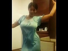Indian Wife Dancing in hotel room