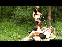 Clip sex BBW beauties getting drilled outdoors