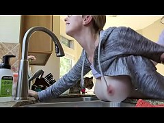 Doggy fucking blonde wife on the kitchen annasexcam