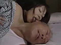 Japanese mature wife seduces...