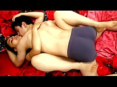 Hot couple in love shows hard sex in top view