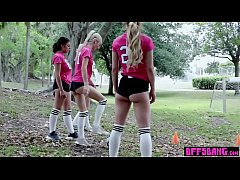 Teen BFFs sex party with two guys after soccer practice