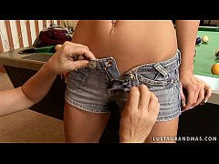 Mature Judyt and a teen toying each other