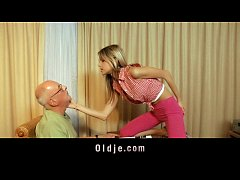thumb materialist  young blonde fucks grandpa for money