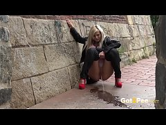 Blonde nearly gets caught wetting her panties i...