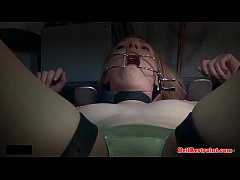 Bound ginger sub humiliated with enema