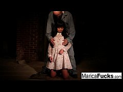 Marica gets stripped and fondled in the basement