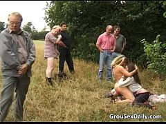Great outdoor group sex full of nasty