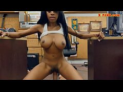 Huge juggs babe pawns her pussy and fucked by pawn guy