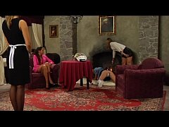 Lesbian slave training and punishment in On Con...