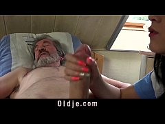 Teen nurse Lady Dee fuck treatment for sick old...